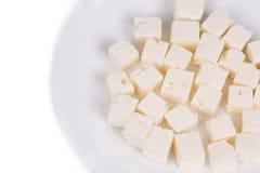 Close up saboroso do queijo macio Fotografia de Stock Royalty Free