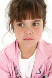 Close Up of Sad Five Year Old Girl Royalty Free Stock Image