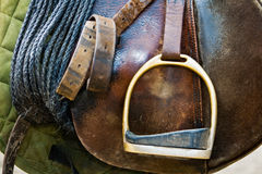 Close up of a saddle Stock Photos
