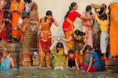 Morning Ritual. Close-up of a Sadhu in Varanasi, India Royalty Free Stock Photography