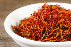 Close up of safflower Royalty Free Stock Photos