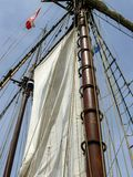 Close-up of sail and mast Stock Photo
