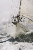 Close up of Sailing Boat or Yacht at sea Royalty Free Stock Photography