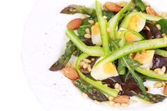 Close up of salad with asparagus. Stock Photo