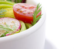 Close up of salad bowl Stock Photos
