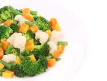 Close up of salad with broccoli. Stock Images