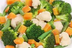 Close up of salad with broccoli. Royalty Free Stock Photo