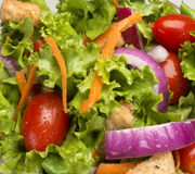 Close up of salad. Closeup of salad with water drops Royalty Free Stock Images