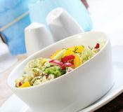 Close up salad in dish Royalty Free Stock Images