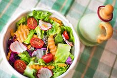 Close-up of Salad in Plate Stock Image