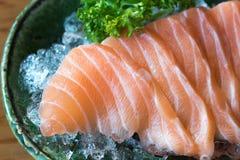 Close up of salmon, sashimi, japanese food stock images