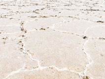 Close-up of salt flats Royalty Free Stock Photos