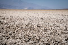 Close up of the salt flats at Badwater Basin lowest point in the Northern Hemisphere in Death Valley National Park. Useful for a. Close up of the salt flats at stock photos