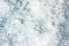 Close up of salt on a salt field Stock Photos