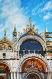 Close up of San Marco cathedral in Venice Stock Images