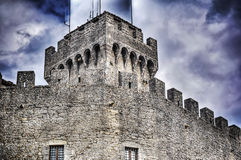 Close up of San Marino city walls Stock Photography