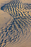 Close up of the sand on a beach Royalty Free Stock Photo