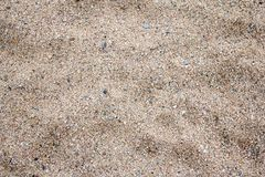 Close up of sand on the beach Royalty Free Stock Photo