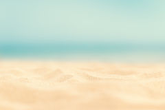 Close up sand with blurred sea sky / Paradise Tropical beach background / summer day royalty free stock photo