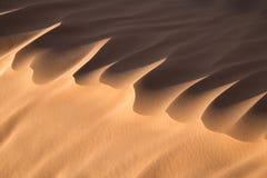 Close up of a sand dune, desert of Sahara Royalty Free Stock Image
