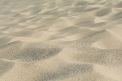 Close up of sand dune pattern. Selective focus royalty free stock images