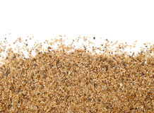 Close up of sand scattering. On white background Royalty Free Stock Images