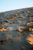 Close-up of sand slope Royalty Free Stock Photo