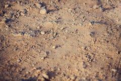Close-up of sand and stones on the coast. Cyprus - Mediterranean Sea coast. Sea Caves near Ayia Napa. Royalty Free Stock Photos