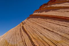 Close up of sandstone fin formation. Sandstone swirl Coyote Buttes Paria Canyon-Vermillion Cliffs Wilderness Area, Arizona, USA Stock Images