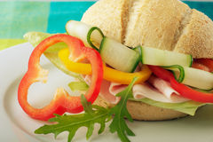 Close-up of a sandwich Stock Photography
