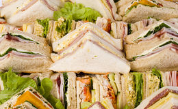 Close Up Sandwich Platter Royalty Free Stock Photos