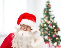 Close up of santa claus winking Royalty Free Stock Image
