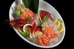 Close up sashimi plate Stock Photo