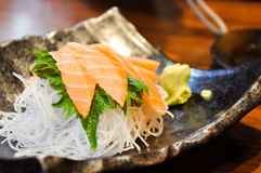 Close-up of sashimi salmon Royalty Free Stock Photography