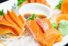 Close up of sashimi salmon. Stock Photography