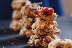 Close-up saudável das cookies Imagem de Stock