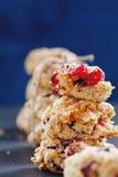 Close-up saudável das cookies Foto de Stock Royalty Free