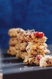 Close-up saudável das cookies Fotografia de Stock