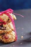 Close-up saudável das cookies Fotos de Stock