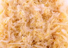 Close up of sauerkraut food background Stock Photo