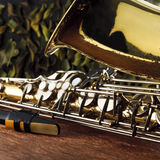 Close up of saxophone Royalty Free Stock Photography