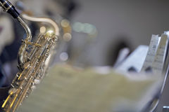 Saxophone with score Stock Images