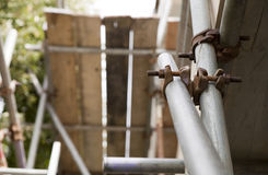 Close up of scaffolding Royalty Free Stock Image