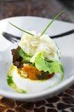 Close up scallop salad Royalty Free Stock Photos