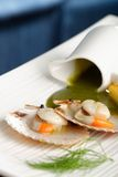 Close up Scallop seafood appetizer Stock Photo