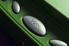 Close up of a scan button Stock Images