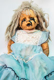 Close up of scary baby doll of halloween Royalty Free Stock Photos