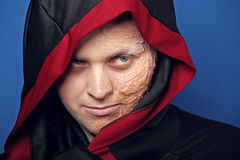 Close-up of a scary dead man Royalty Free Stock Photo