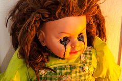 Close up of scary doll Stock Images