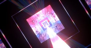 A close-up scene of a cube, full of light and colors. royalty free stock photo